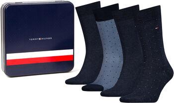 Tommy Jeans M Mixed Dots 4er Pack Pánské modrá