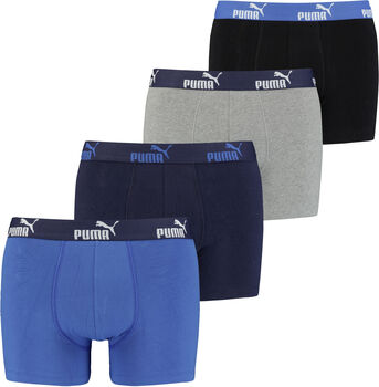 Puma Solid boxer sada 4 ks boxerky Pánské modrá