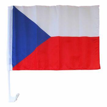 NOBRAND Fanouškovská autovlajka Česko bílá