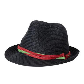 chillouts  Trend black Dám.klobouk, 100% papír černá