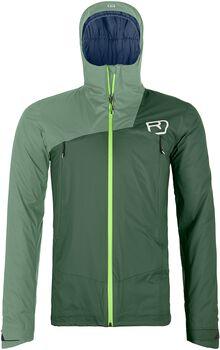 ORTOVOX 2L Swisswool Leone outdoorová bunda Pánské zelená