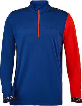 Spyder Orion Zip T-Neck tričko  Pánské modrá